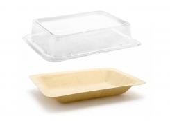 "8"" x 5.75"" Servewise® Deep Plate and Cover"