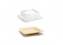 "4.5"" Square Servewise®  Plate and Cover"