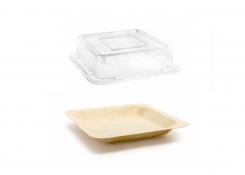"5.5"" Square Servewise® Plate and Cover"