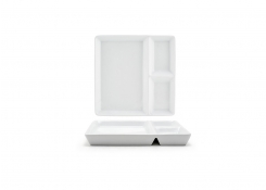 """7.5"""" Square Mod®  Divided Plate"""
