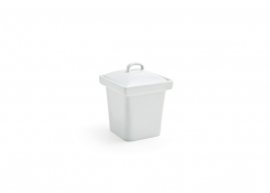"3"" Square Mod Pot with Lid - 4oz"
