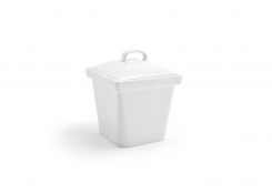 "4"" Square Mod Pot with Lid - 15oz"