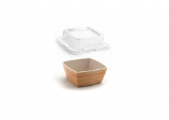 """4.5"""" Square Platewise®  Mod®  Bowl and Cover"""