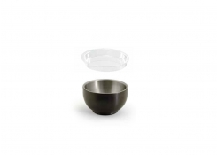 2.5oz Round Brushed Stainless Harmony™  Ramekin - Matte Black and Cover