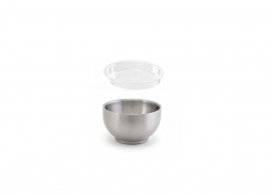 2.5oz Round Brushed Stainless Harmony™  Ramekin - Silver and Cover