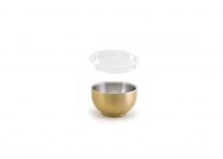 2.5oz Round Brushed Stainless Harmony™  Ramekin - Matte Brass and Cover