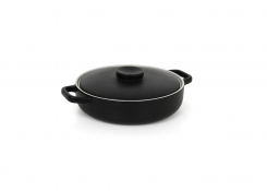 56oz Round Kiln®  Ovenware Dish with Lid - Black
