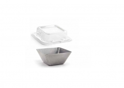 """4.5"""" Square Stainless Mod®  Bowl Antique and Cover"""