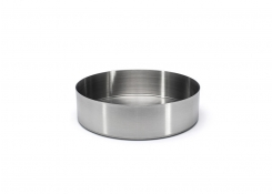 "7.5"" Round Brushed Stainless Soho Bowl - 42oz - Silver"