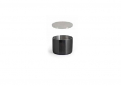 9oz Round Brushed Stainless Soho Ramekin – Matte Black and Cover