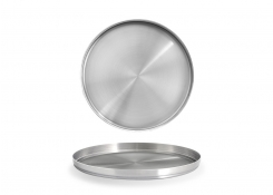 "9"" Round SS Soho Plate - Silver"