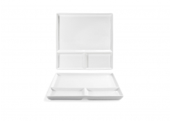 """10.75"""" Square Mod®  Divided Plate"""