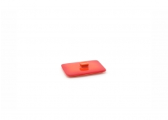 10oz Rectangle Kiln Ovenware Lid - Blood Orange