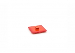 8oz Square Kiln Ovenware Lid - Blood Orange