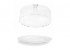 """12.5"""" Round Monaco Plate and cover"""