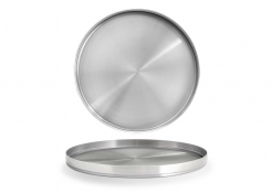 "12.25"" Round Brushed Stainless Soho Plate – Silver"