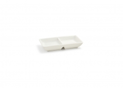 Stackable Two Part Dish - Eurowhite