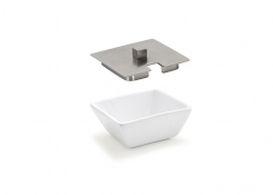 "3.25"" Tall Square Catalyst Kyoto Dish and Cover"