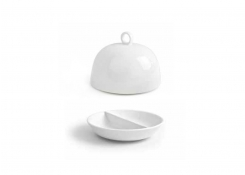 "4.75"" Round Monaco Divided Dish and cover"