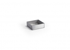 2.5oz Square Brushed Stainless Canvas® Ramekin - Silver