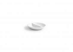 "3.75"" Round Monaco Divided Dish - 1oz"