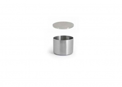 9oz Round Brushed Stainless Soho Ramekin – Silver and Cover