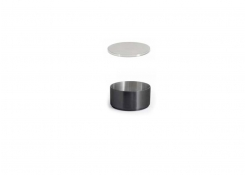 6oz Round Brushed Stainless Soho Ramekin – Matte Black and Cover