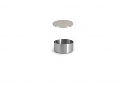 6oz Round Brushed Stainless Soho Ramekin – Silver and Cover