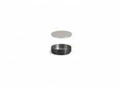 3oz Round Brushed Stainless Soho Ramekin – Matte Black and Cover
