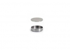 3oz Round Brushed Stainless Soho Ramekin – Silver and Cover
