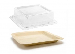 "8"" Square Servewise®  Plate and Cover"