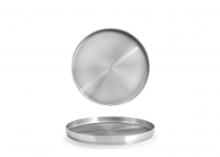 "7.5"" Round SS Soho Plate - Silver"