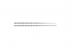 """9"""" Mirrored Stainless Twisted Chopsticks - Silver"""
