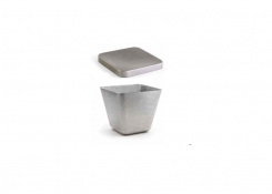 """3.75"""" Square Stainless Mod®  Tall Bowl - Antique and Cover"""