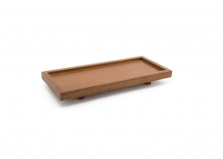 "10"" x 4.5"" Rubberwood Tray"