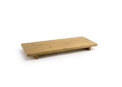 Rectangle Footed Tray - Bamboo