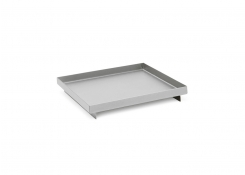 "6"" Square Brushed Stainless Tray - Silver"