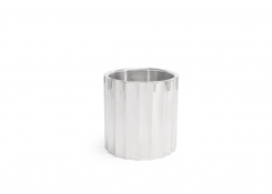 "7.25"" Round Mirrored Stainless Fluted Wine/Champagne Cooler - 160oz - Silver"