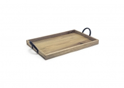 "13"" x 9"" Rustic Wood Sheet Pan"