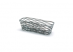 "9"" x 4"" Tapered Patina Basket"