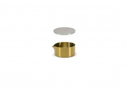 5oz Brushed Stainless Soho Pourer - Matte Brass and Cover