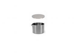 8oz Brushed Stainless Soho Pourer - Silver and Cover