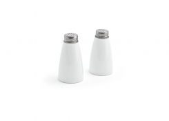 Salt & Pepper Set - Brushed Stainless Top