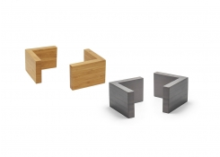 "3"" Bamboo L Risers - Set of 4"