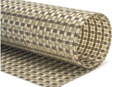 "16"" x 12"" Metroweave Large Basketweave Mat - Tan"