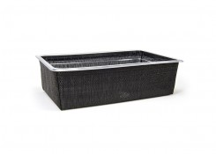 Full Size Metroweave®  Housing/Pan Set - Deep - Random Weave Black