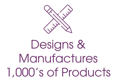 designs and maufactures 1,000's of products